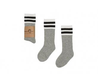 b571655e79c3cb mama's feet - podkolanówki dziecięce - old school szare
